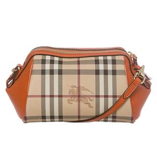 Burberry Haymarket Mini Blaze Cross-body Bag