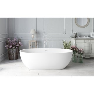 Aquatica Corelia-Wht (PureScape 617BM) Freestanding Solid Surface Bathtub