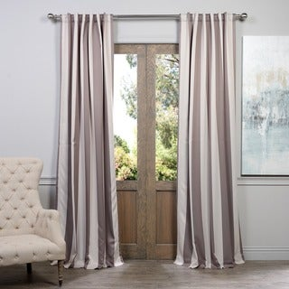 Exclusive Fabrics Charleston Stripe Tan Blackout Curtain Panel Pair