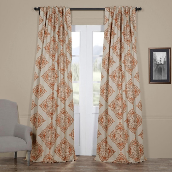 Moroccan-style Thermal Insulated Blackout Curtain Panel Pair