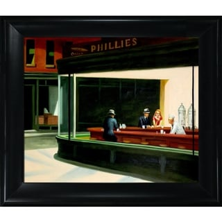 Edward Hopper 'Night Hawks, 1942' Hand Painted Framed Canvas Art