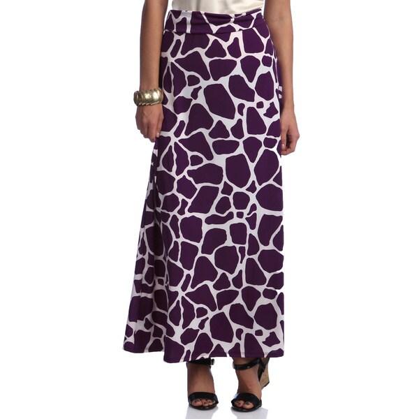Women's Animal Print Long Maxi Skirt