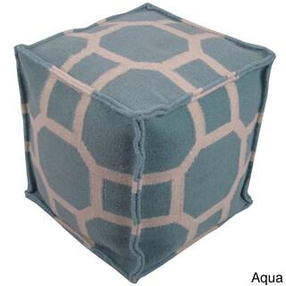 "Delphi Aqua 16"" Pouf"