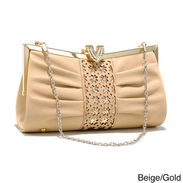 Dasein Cut-out Pleated Evening Clutch