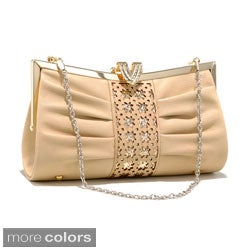 Dasein Cut-out Pleated Evening Clutch (Option: Beige)