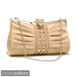 Dasein Cut-out Pleated Evening Clutch (4 options available)