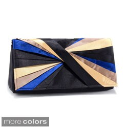 Dasein Pleated Color Wheel Evening Bag