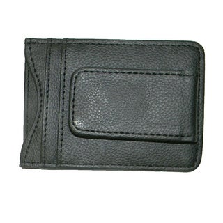 Hollywood Tag Black Leather Money Clip