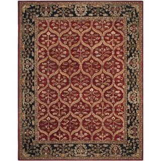 Safavieh Handmade Anatolia Oriental Red/ Navy Hand-spun Wool Rug (8' x 10')