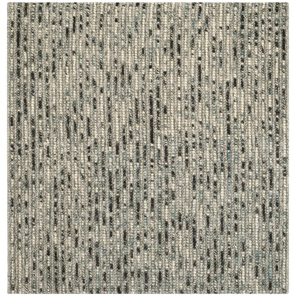 Safavieh Hand Knotted Bohemian Grey Wool Rug 6 Square