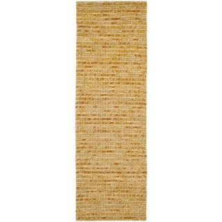 Safavieh Hand-knotted Vegetable Dye Chunky Gold Hemp Rug (2' 6 x 8')