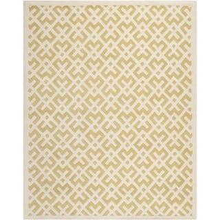 Safavieh Handmade Moroccan Chatham Light Gold/ Ivory Wool Rug (8' x 10')