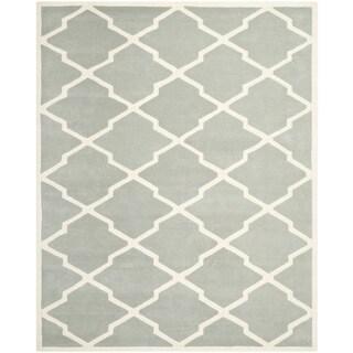 Safavieh Handmade Contemporary Moroccan Chatham Gray/ Ivory Wool Rug (8'9 x 12')