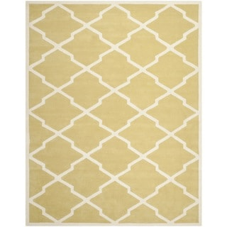Safavieh Handmade Moroccan Chatham Light Gold/ Ivory Wool Rug (5' x 8')