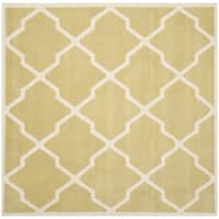 Safavieh Handmade Moroccan Chatham Light Gold/ Ivory Wool Rug - 7' Square