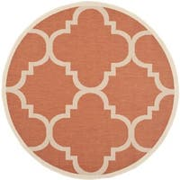 Safavieh Courtyard Quatrefoil Terracotta Indoor/ Outdoor Rug - 6'7 Round