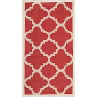 Safavieh Courtyard Quatrefoil Red Indoor/ Outdoor Rug - 2' x 3'7