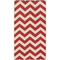 Safavieh Courtyard Chevron Red Indoor/ Outdoor Rug - 2' x 3'7