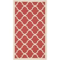 """Safavieh Courtyard Moroccan Trellis Red/ Bone Indoor/ Outdoor Rug - 2'7"""" x 5'"""