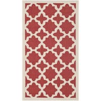 Safavieh Courtyard All-Weather Red/ Bone Indoor/ Outdoor Rug - 2' x 3'7
