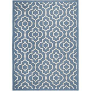 """Safavieh Indoor/ Outdoor Courtyard Blue/ Beige Area Rug (5'3"""" x 7'7"""")"""