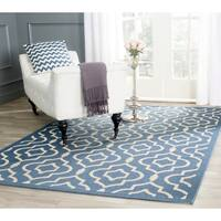 Safavieh Indoor/ Outdoor Courtyard Blue/ Beige Area Rug - 8' X 11'