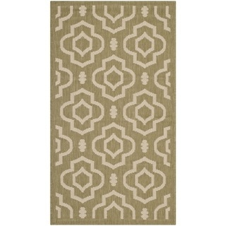 Safavieh Indoor/ Outdoor Courtyard Green/ Beige Rug (2' x 3'7)