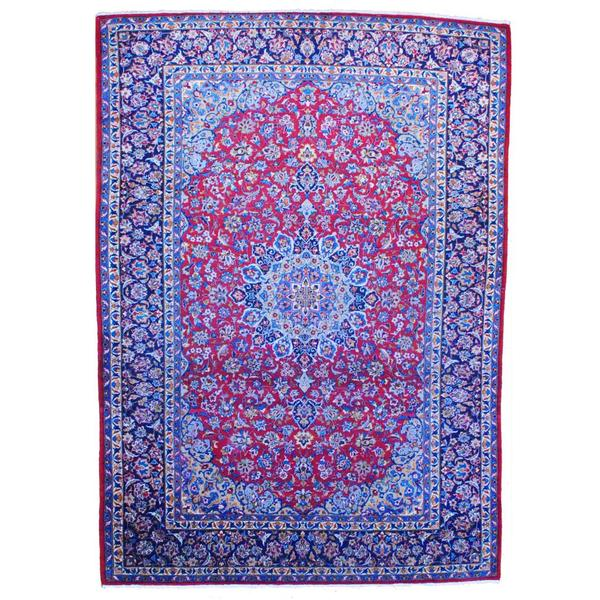 Hand Knotted Persian Isfahan Wool Area Rug: Shop Herat Oriental Persian Hand-knotted 1960s Isfahan Red