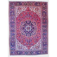 Herat Oriental Persian Hand-knotted Heriz Wool Rug (9 x 12'5) - 9' x 12'5