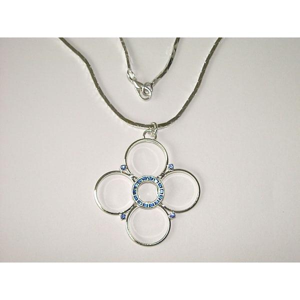 Detti Originals Blue Crystal Floral Fashion Necklace