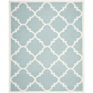 Safavieh Handwoven Moroccan Reversible Dhurrie Light Blue Wool Area Rug (8' x 10')