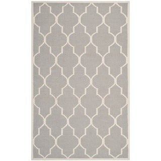 Safavieh Handwoven Moroccan Reversible Dhurrie Dark Grey Wool Area Rug (9' x 12')