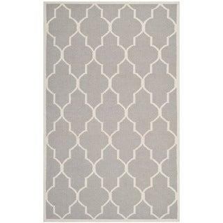 Safavieh Handwoven Moroccan Reversible Dhurrie Dark Grey Wool Area Rug (9' x 12')