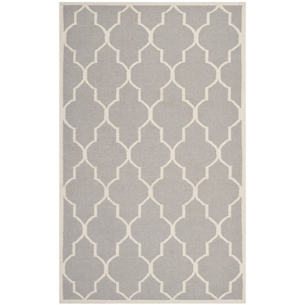 Safavieh Handwoven Moroccan Reversible Dhurrie Dark Grey Wool Area Rug - 9' x 12'