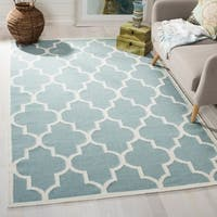 Safavieh Handwoven Moroccan Reversible Dhurrie Light Blue Wool Area Rug - 5' x 8'