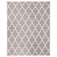 Safavieh Handwoven Moroccan Reversible Dhurrie Transitional Grey Wool Rug - 9' x 12'