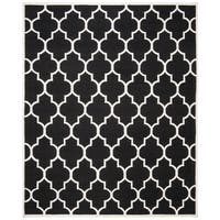 Safavieh Handwoven Moroccan Reversible Dhurrie Black Wool Transitional Rug - 8' x 10'