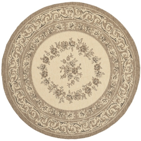 Safavieh Indoor Outdoor Courtyard Cream Brown Rug 5 3