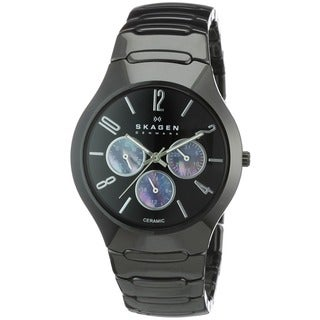 Skagen Men's Ceramic Black Day And Date Watch