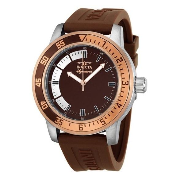 Invicta Men's Brown Dial Rose-goldtone Watch