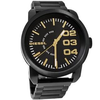 Diesel Men's Black/ Goldtone Watch