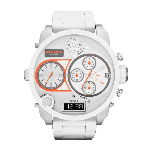 Shop Diesel Men S Mr Daddy Multi Function White Dial