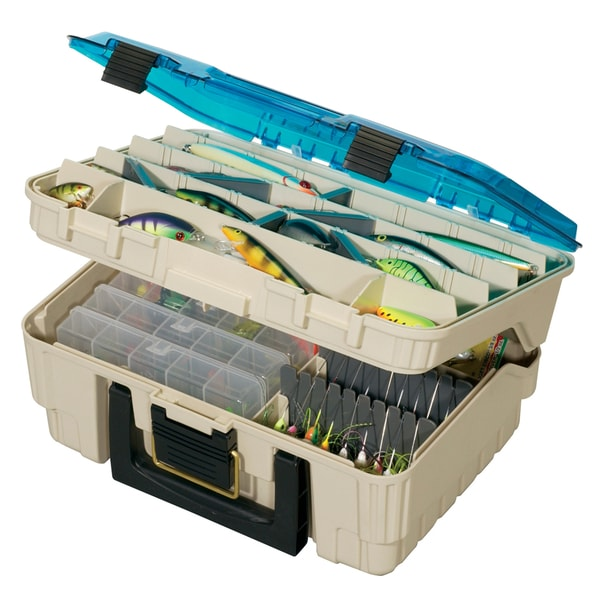 Plano medium two level magnum stachel tackle box free for Overstock furniture and mattress plano