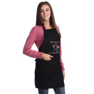 Wine is the Answer Rhinestone Apron