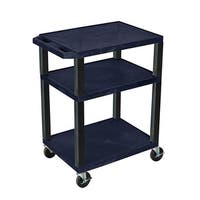 Offex Navy Mobile 34-inch AV Cart