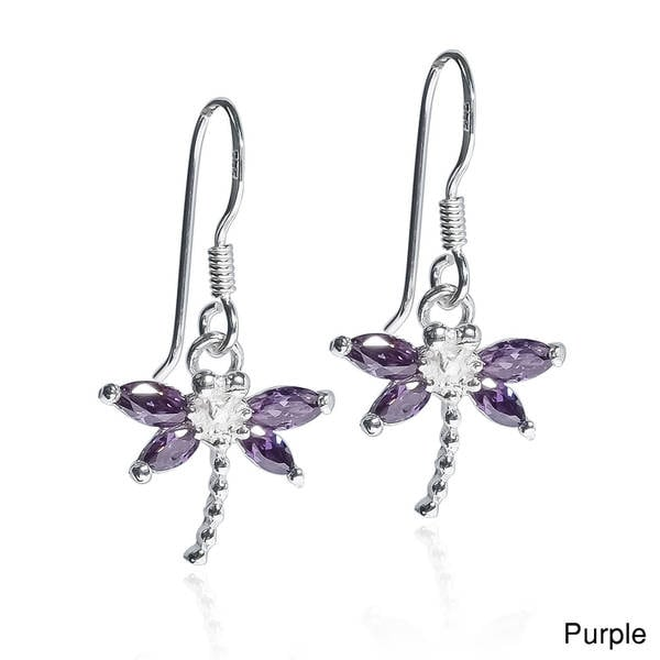 Beautiful Handmade Thai Design Dragonfly Earrings 925 Sterling Silver From Thailand NxReRzpH