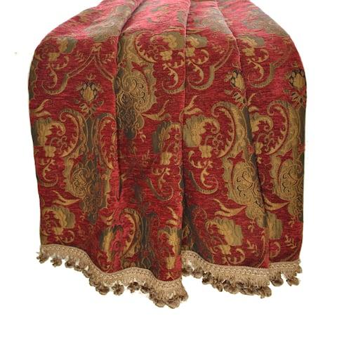 Sherry Kline Luxury China Art Red Throw
