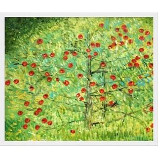 Gustav Klimt 'The Apple Tree' Hand Painted Framed Canvas Art