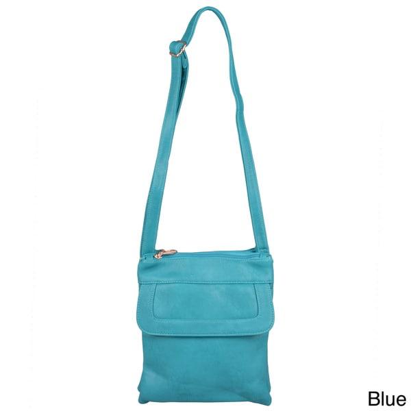 Journee Collection Women's Cross Body Messenger Bag