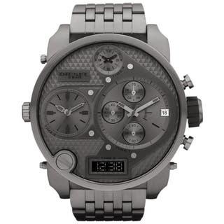Diesel Men's DZ7247 'Mr Daddy' Grey Oversized Chronograph Stainless Steel Watch|https://ak1.ostkcdn.com/images/products/8276720/P15598009.jpg?impolicy=medium